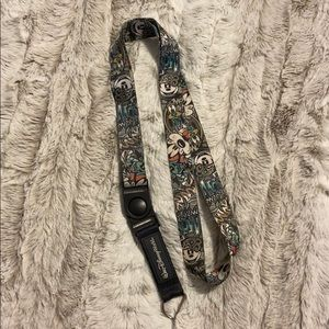 Graffiti-styled disney lanyard